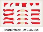 set of red ribbons.ribbon... | Shutterstock .eps vector #252607855