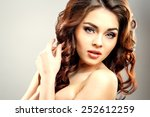 close up portrait of beautiful... | Shutterstock . vector #252612259