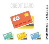 vector credit card icons.