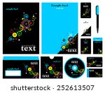 corporate style. 12 templates ... | Shutterstock .eps vector #252613507