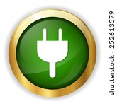 power plug button | Shutterstock .eps vector #252613579