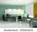 office interior in classical... | Shutterstock . vector #252616231