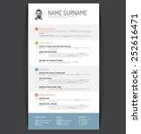 vector minimalist cv   resume... | Shutterstock .eps vector #252616471
