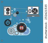 cloud communication  vector | Shutterstock .eps vector #252621535