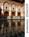 Small photo of MARRAKECH, MOROCCO, MAY 10, 2013 : The Ben Youssef Madrasa was an Islamic college in Marrakesh, Morocco, named after the Almoravid sultan Ali ibn Yusuf (reigned 1106 to ??1142)