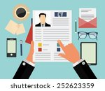 job interview concept with... | Shutterstock .eps vector #252623359