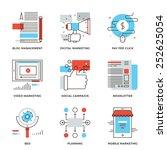 Thin Line Icons Of Digital...