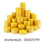 stack of gold coins | Shutterstock . vector #252625759