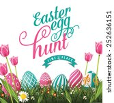 Easter Egg Hunt Isolated With...