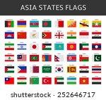 flag of asia states vector set | Shutterstock .eps vector #252646717
