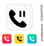 phone call pause icon. vector...