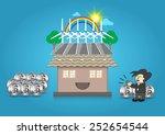 illustration of alternative... | Shutterstock .eps vector #252654544