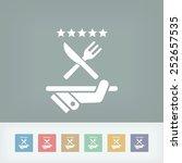 restaurant icon. top rating. | Shutterstock .eps vector #252657535