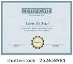 certificate template vector...   Shutterstock .eps vector #252658981