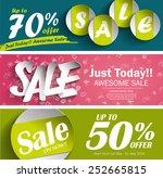 sale vector poster  3d paper... | Shutterstock .eps vector #252665815