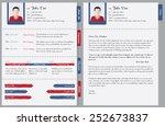 hand written curriculum vitae... | Shutterstock .eps vector #252673837