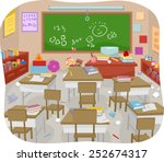 illustration of a messy and... | Shutterstock .eps vector #252674317