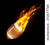realistic american football in... | Shutterstock . vector #252677764
