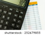 working with calculator and... | Shutterstock . vector #252679855