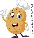 cartoon potato giving thumb up   Shutterstock .eps vector #252681661