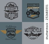 motorcycle graphic design for t ... | Shutterstock .eps vector #252683551