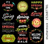 vintage spring typography... | Shutterstock .eps vector #252687781