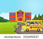 illustration of a school bus... | Shutterstock .eps vector #252690337
