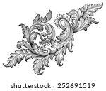 vintage baroque frame leaf... | Shutterstock .eps vector #252691519
