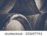 Dark Wine Barrels To Store Win...
