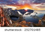 mountain coast landscape at... | Shutterstock . vector #252701485