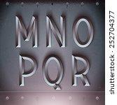 vector metal embossed font from ... | Shutterstock .eps vector #252704377