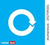 circular arrow sign vector icon | Shutterstock .eps vector #252709201