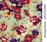 seamless floral pattern with... | Shutterstock . vector #252712369