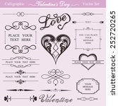 valentine's day calligraphic... | Shutterstock .eps vector #252720265