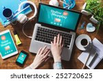 online shopping website on... | Shutterstock . vector #252720625