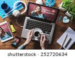 online shopping website on... | Shutterstock . vector #252720634