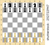 chess board with figures  ... | Shutterstock .eps vector #252722947