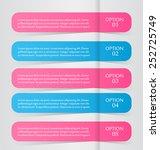 business infographics tabs... | Shutterstock .eps vector #252725749