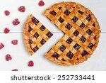 Sliced Raspberry Pie With Fres...