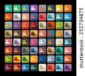 flat design  gumshoes   Shutterstock .eps vector #252734875