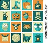 halloween flat icons. original... | Shutterstock .eps vector #252738559