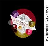 business abstract triangular... | Shutterstock .eps vector #252739969