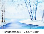 Oil Painting   Winter Landscap...