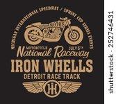 motorcycle typography  t shirt... | Shutterstock .eps vector #252746431