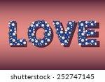 heart of hearts on burgundy ... | Shutterstock .eps vector #252747145