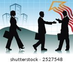 two businessman handshaking and ... | Shutterstock .eps vector #2527548