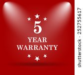5 year warranty icon. flat icon ... | Shutterstock . vector #252755617