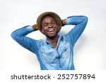 close up portrait of a happy... | Shutterstock . vector #252757894