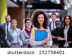 young multi ethnic business...   Shutterstock . vector #252758401