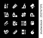 set icons of hygiene isolated... | Shutterstock . vector #252767191